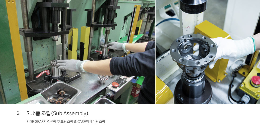 2 Sub품 조립(Sub Assembly)